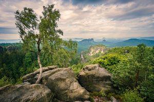 Фото бесплатно закат, горы, скалы