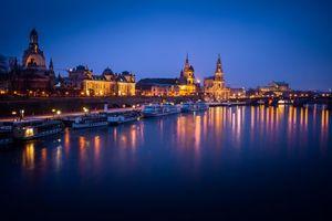 Фото бесплатно Дрезден, Саксония, Вид на Эльбу