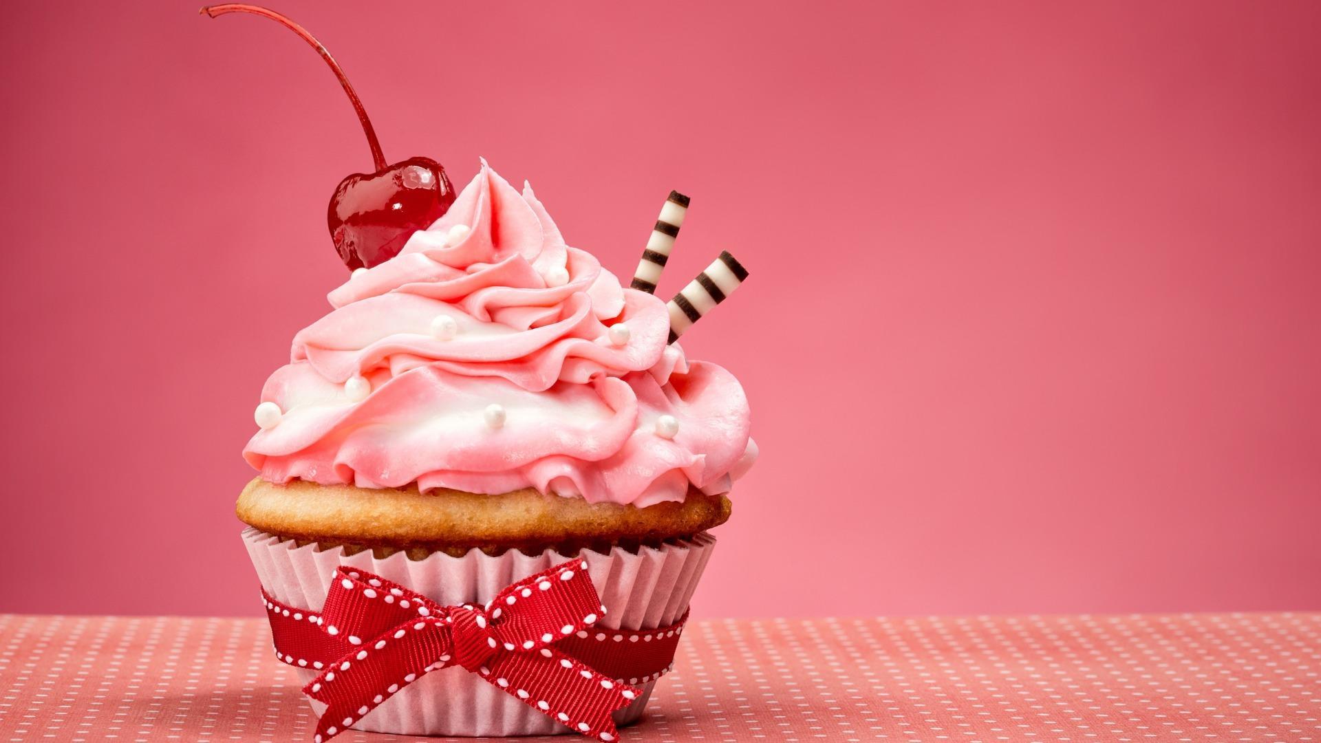 Обои cake, cupcake, pink, cream