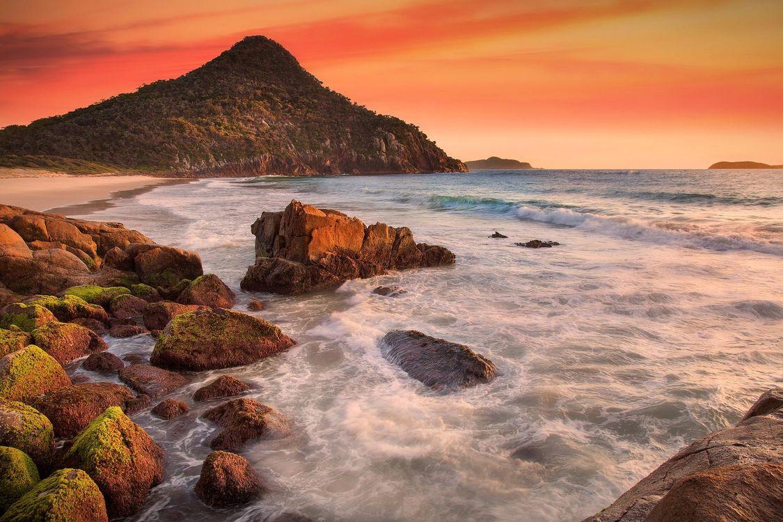 Фото бесплатно закат, Австралия, море - на рабочий стол
