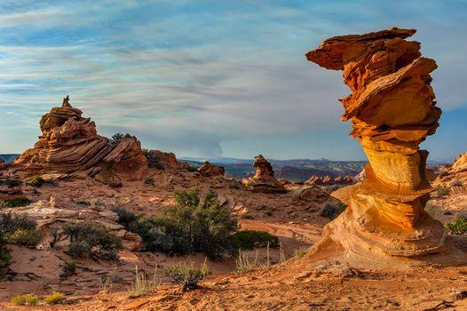 Заставки Аризона, горная местность, скалы