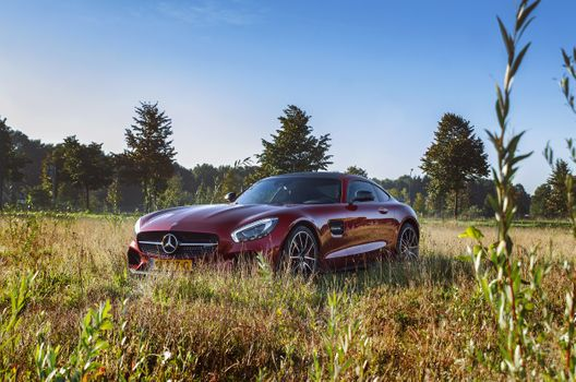 Photo free Mercedes Benz AMG red, grass, vehicles