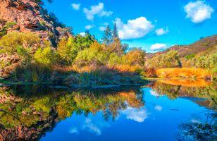 Фото бесплатно отражение, горные парки, Калифорния