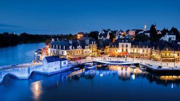 Фото порта Сент-Густан во Франции · бесплатное фото