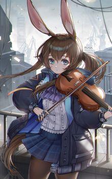 Фото бесплатно скрипка, пальто, amiya