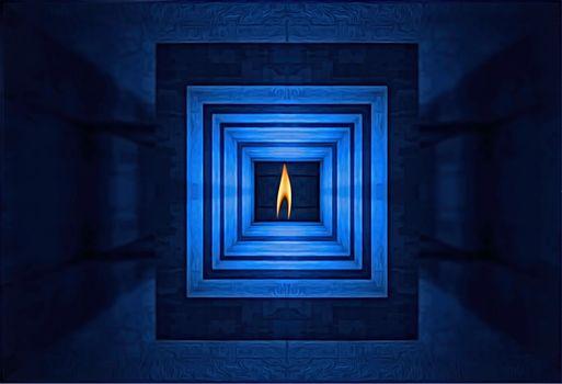 Заставки абстракция, туннель, свечение