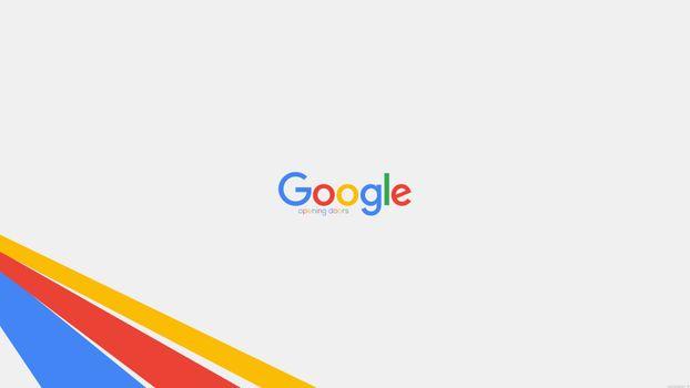 Фото бесплатно Гугл, логотип, открывающиеся двери