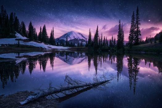 Фото бесплатно озеро, природа, ночь