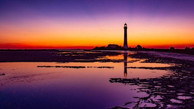 Photo free lighthouse, colorful, sunrise