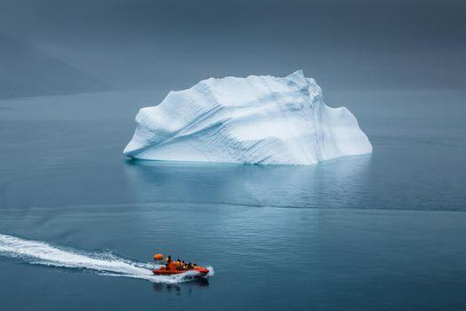 Photo free sea, reflection, iceberg