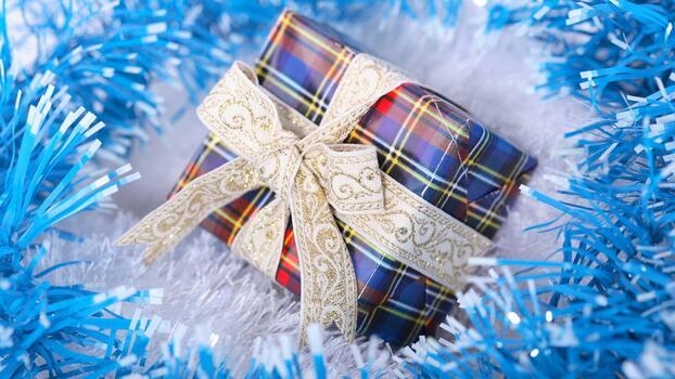 Photo free gift, tinsel, ribbon