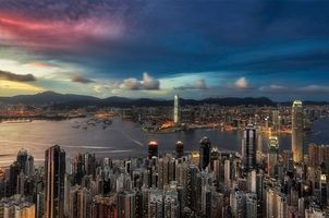 Бесплатные фото Гонконг,Китай,закат
