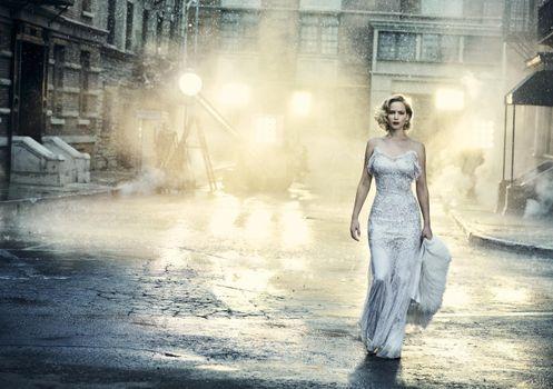 Фото бесплатно Jennifer Lawrence, платье, улица