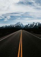 Бесплатные фото горы,дорога,разметка,авто,движение,mountains,road