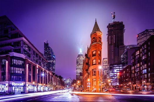 Фото бесплатно Toronto, Canada, ночь