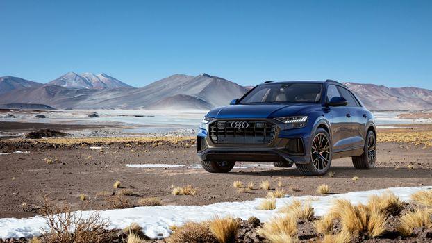 Photo free black, mountains, Audi Q8