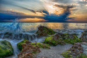 Бесплатные фото Флорида,море,закат,берег,скалы,пейзаж
