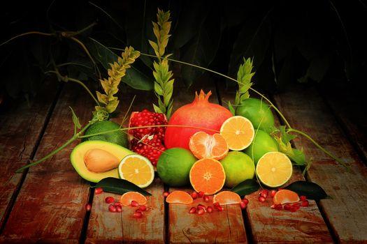 Заставки фрукты, цитрусы, мандарин