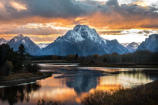 Photo free national Park Grand Teton, landscape, mountain Morano zero