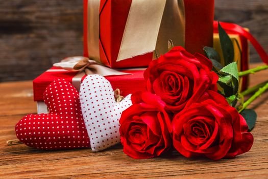 Photo free red, roses, background