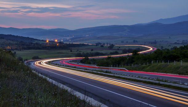 Photo free light, track, road