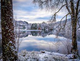 Фото бесплатно Норвегия, зима, река
