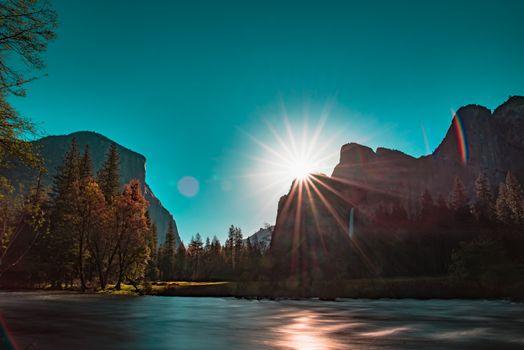 Photo free sunbeam, mountains, nature