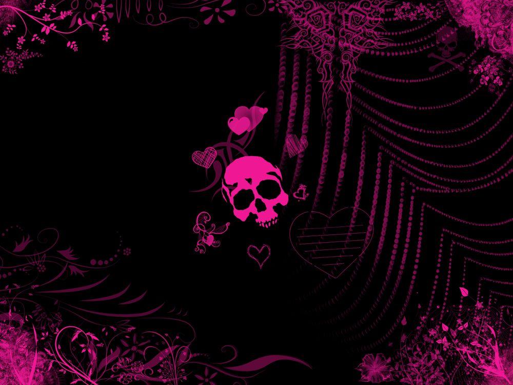 Розовый череп · бесплатное фото