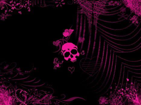 Pink skull · free photo