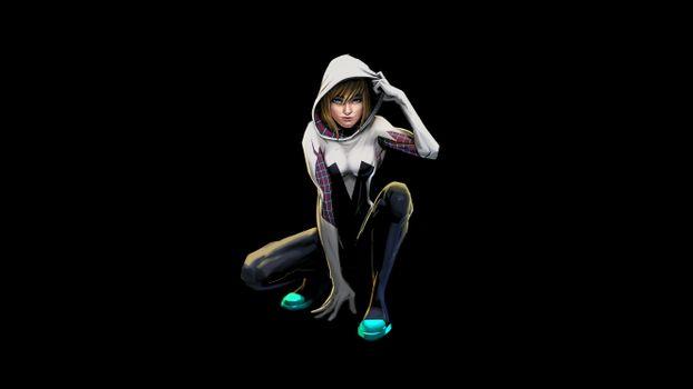 Заставки Gwen Stacy, супергерои, художественное произведение
