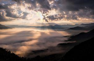 Фото бесплатно холм, темнота, отражение