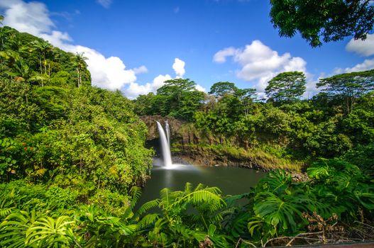 Фото бесплатно Радужный водопад, Гавайи, водопад