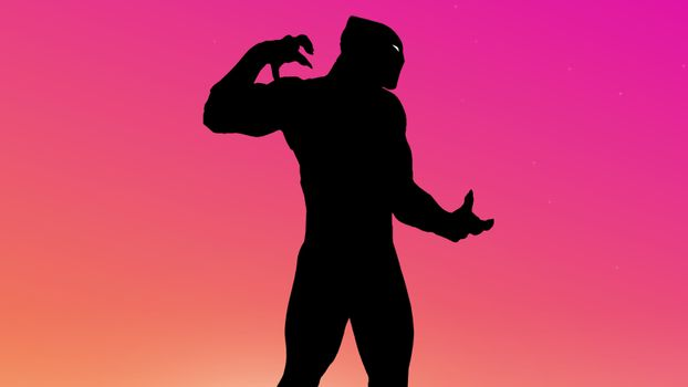 Заставки Black Panther, супергерои, минимализм