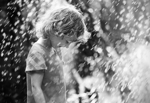 Фото бесплатно ребенок, мальчик, дождь