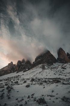 Фото бесплатно холмы, снег, горы