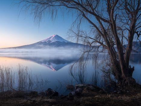 Photo free Mount Fuji, lake Kawaguchi, Yamanashi