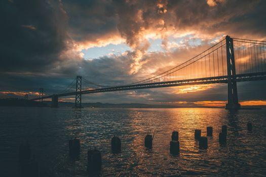 Фото бесплатно мост, современная архитектура, небо