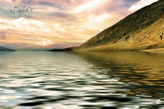 Photo free cloud, rock, sun light
