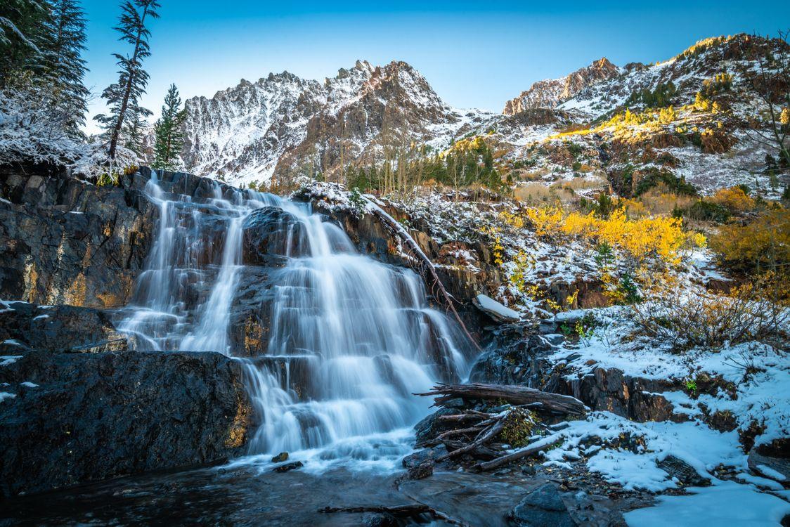Фото штаты сша водопады утес США - бесплатные картинки на Fonwall