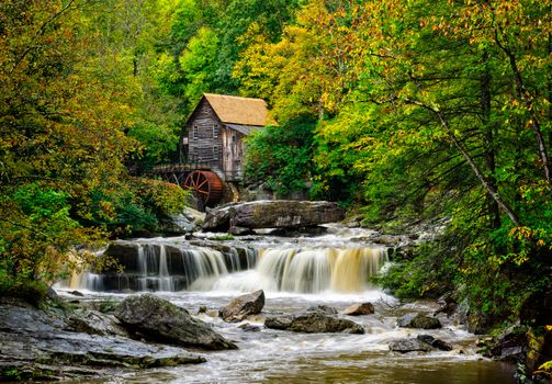 Photo free West Virginia, Glade Creek Mill, river