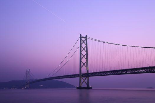 Заставки мост, живописный, сумерки