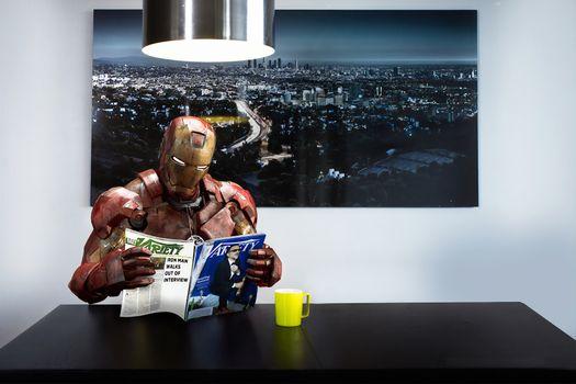 Фото бесплатно цифровое искусство, железный человек, Behance