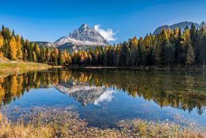 Бесплатные фото Италия, Три Пикс, Доломиты, горы, озеро, пейзаж
