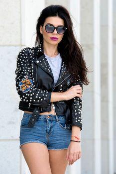 Photo free girls, glasses, jacket