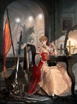Заставки принцесса, статуя, флаг