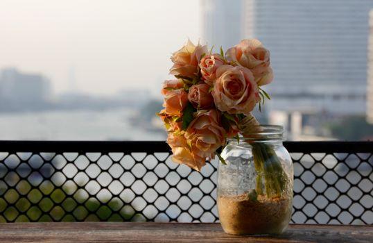 Photo free flowers, bouquet, jar