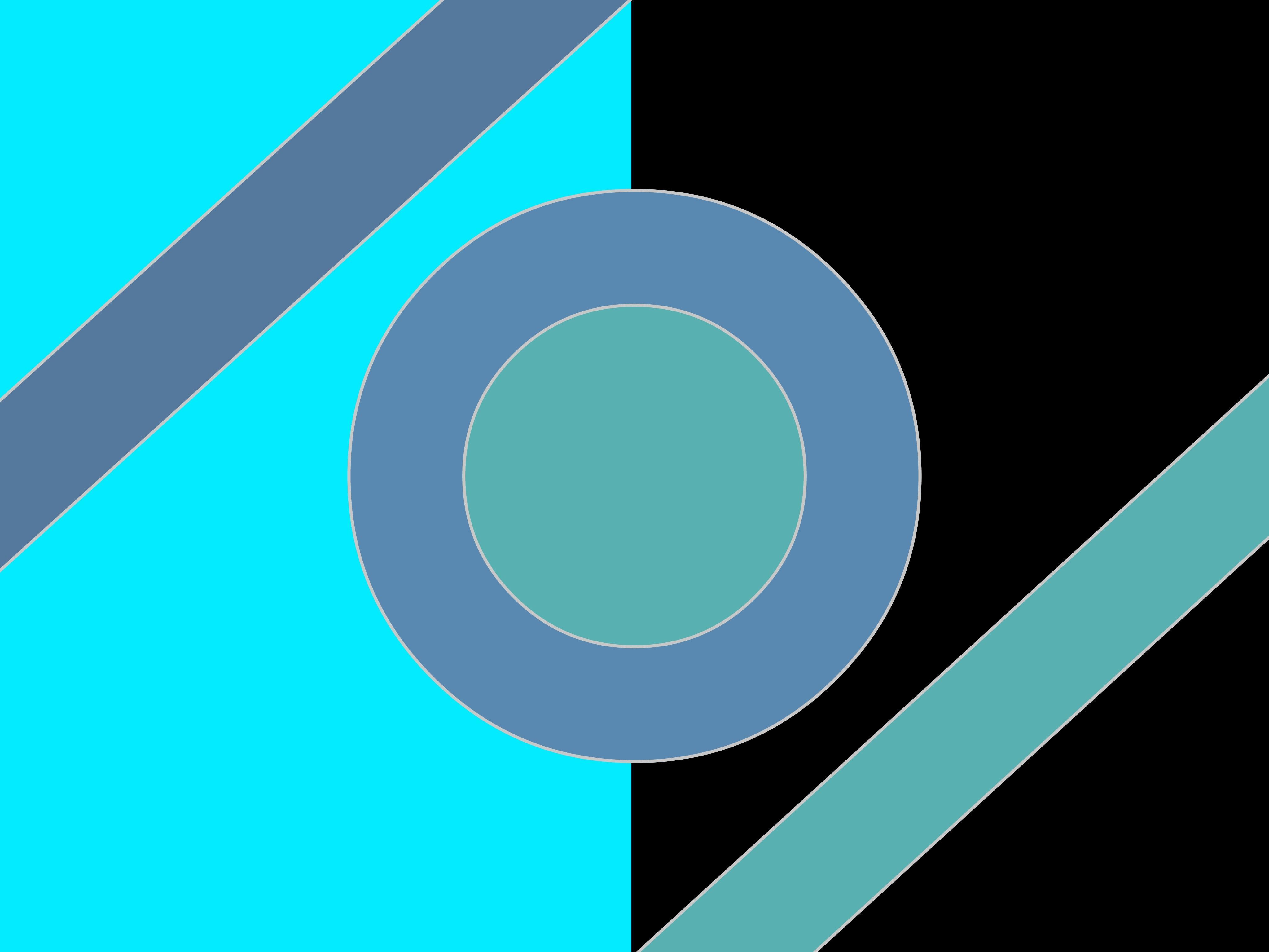 Обои абстракция, геометрия, круг, голубой