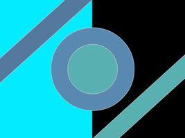 Бесплатные фото абстракция, геометрия, круг, голубой, черный