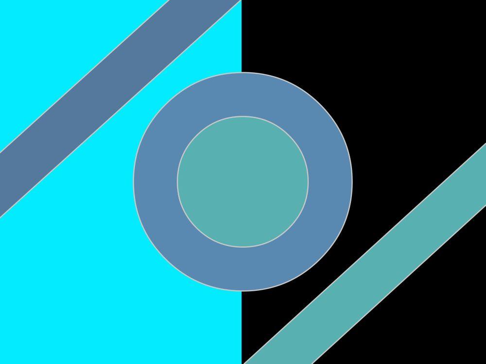 Картинка абстракция, геометрия, круг, голубой, черный на рабочий стол. Скачать фото обои текстуры