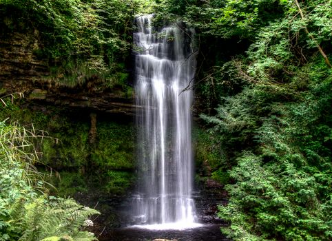 Photo free Glencar Waterfall, Ireland, waterfall
